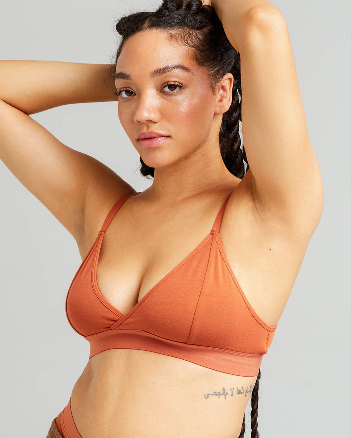 RICHER POORER - CLASSIC BRALETTE - REDWOOD
