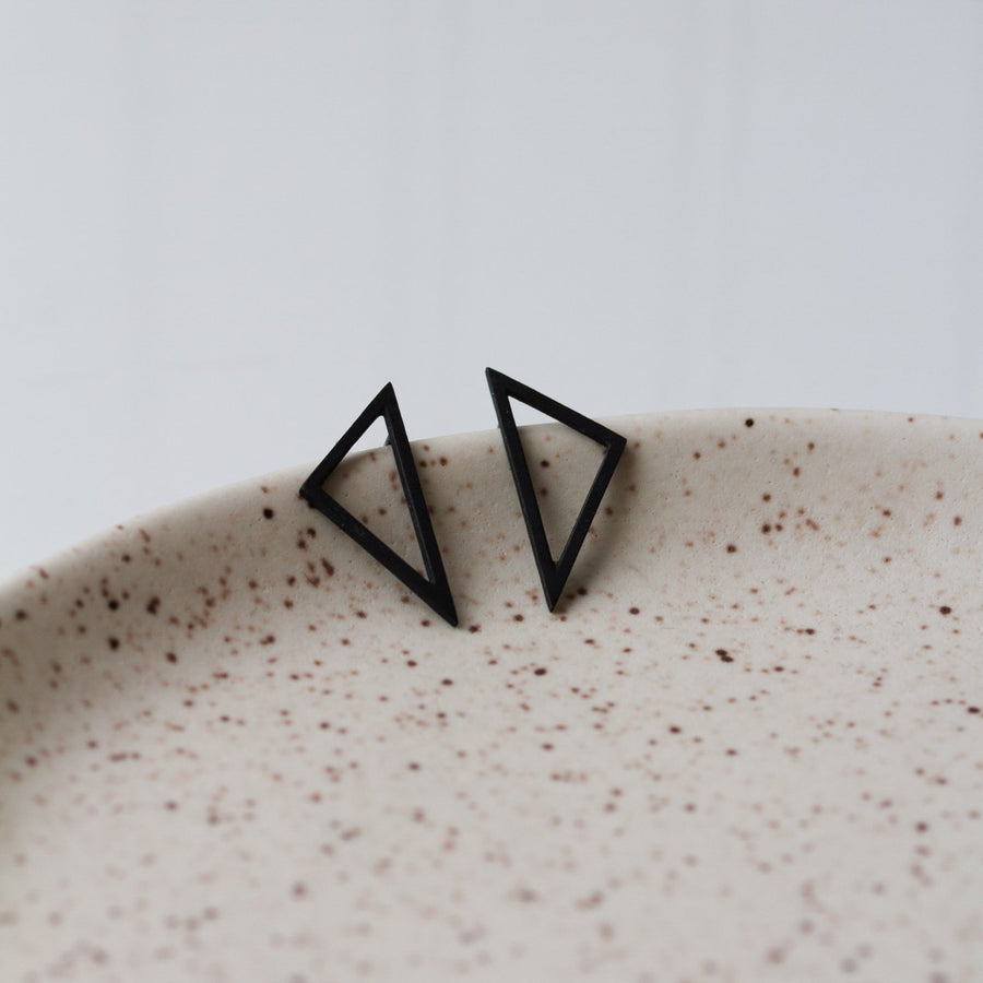 PILAR AGUECI - CARSON EARRINGS - OXIDIZED