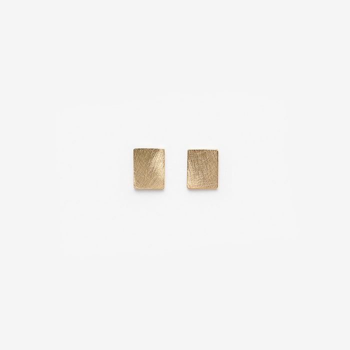 PILAR AGUECI - CHIP STUDS - 14K YELLOW GOLD