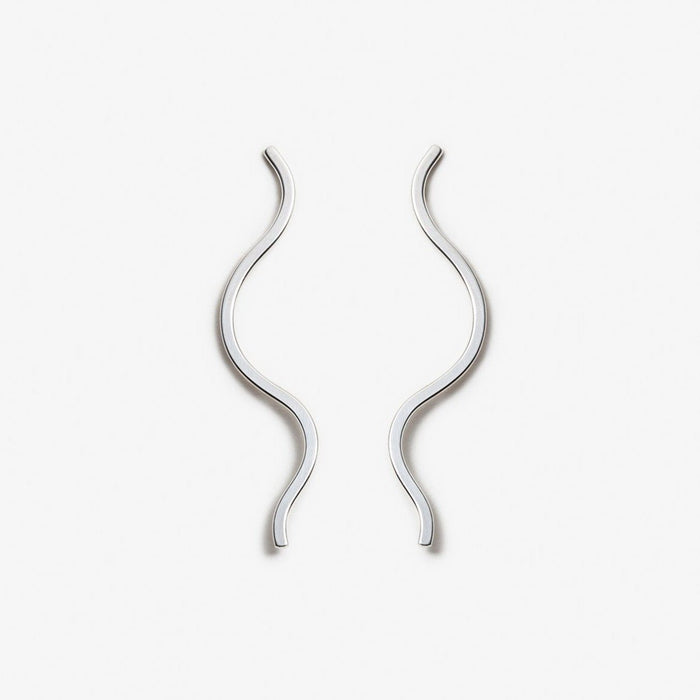 PILAR AGUECI - EARRINGS DELTA - ARGENT