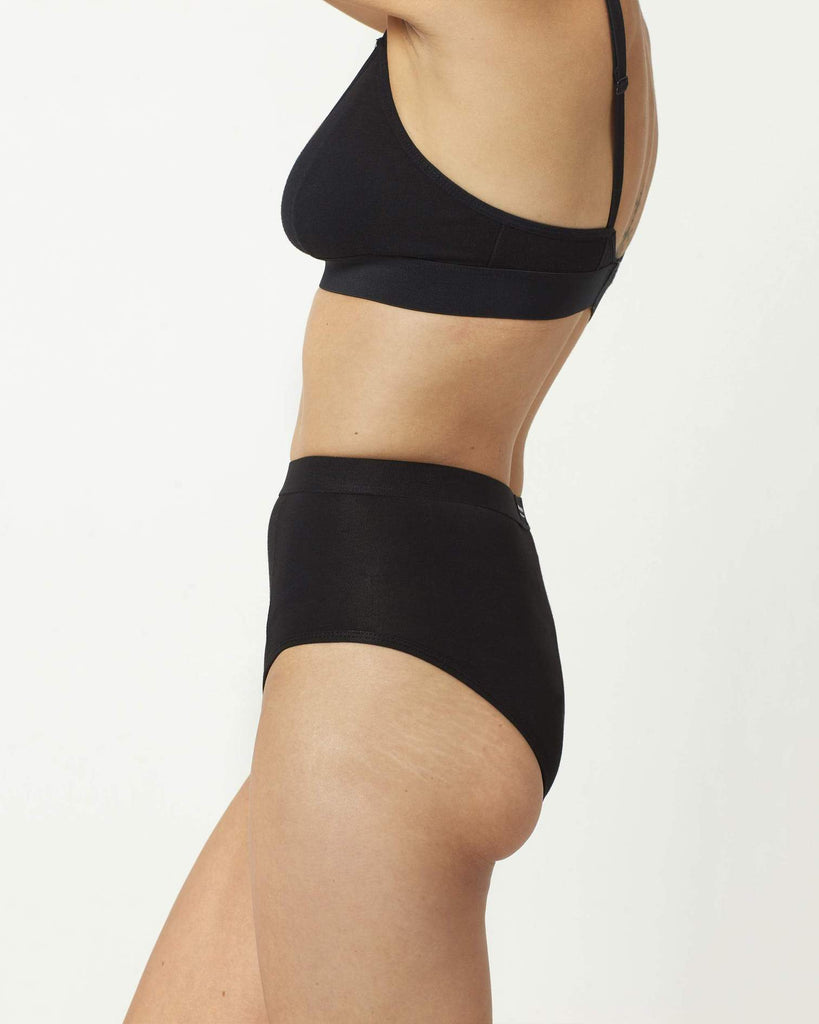 RICHER POORER - HIGH WAIST BRIEF - NOIR