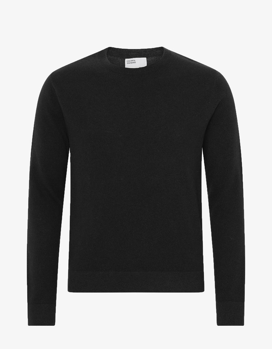 COLORFUL STANDARD - LIGHT MERINO WOOL CREW - BLACK