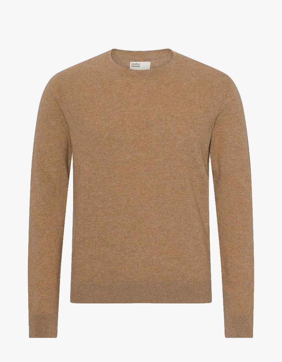COLORFUL STANDARD - LIGHT MERINO WOOL CREW - SAHARA CAMEL