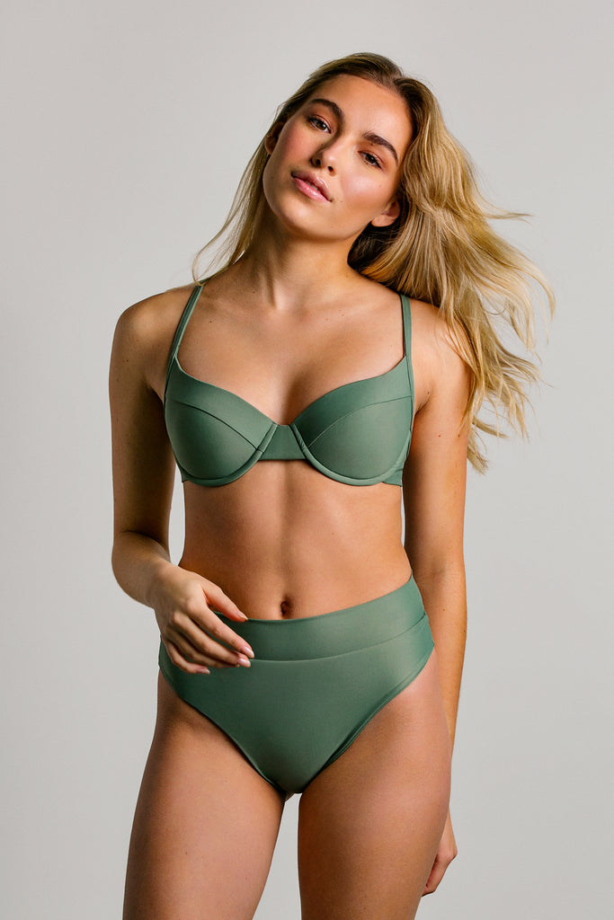JUNE SWIMWEAR - HAUT OZ  - PISTACHIO - PÉ21