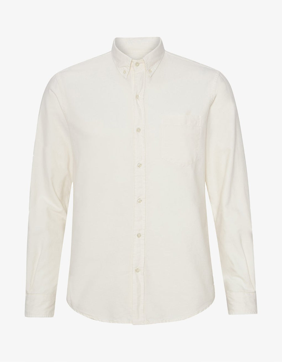 COLORFUL STANDARD - CLASSIC BUTTON DOWN SHIRT - IVORY WHITE