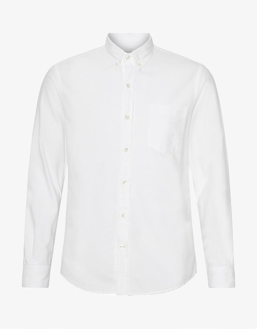 COLORFUL STANDARD - CLASSIC BUTTON DOWN SHIRT -OPTICAL  WHITE