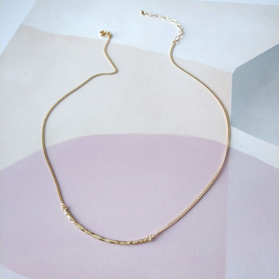 SANDRINE DEVOST - SD1605 - HAMMERED BAR NECKLACE
