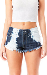 MOGAN BLEACHED DENIM SHORT