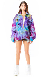 AUDREY SPLOTCH TIE DYE DENIM JACKET