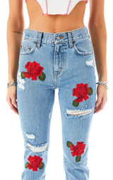 ALEXANDER ROSE EMBROIDERED JEAN