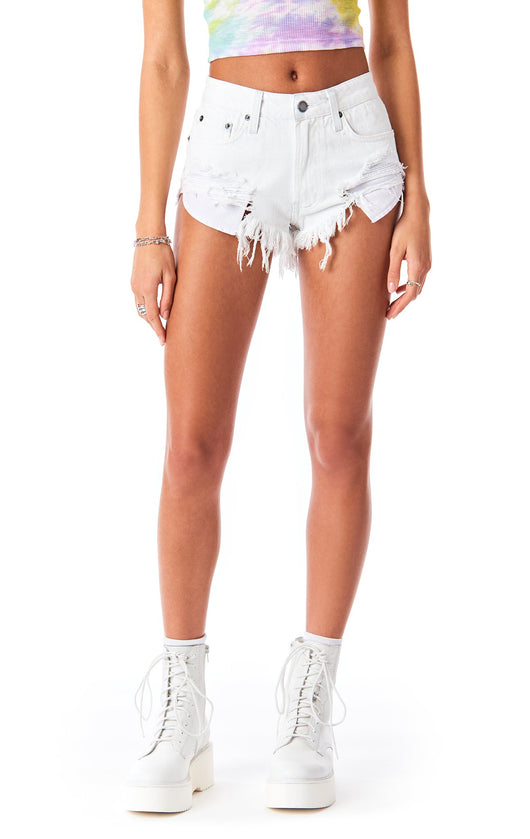 MOGAN CORNELIAN DENIM SHORT