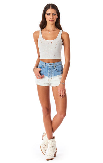TITANIA DIP DYE DENIM SHORT