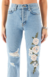 EMELIA ROSE EMBROIDERED JEAN