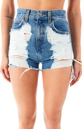 ALICE ALYA DENIM SHORTS