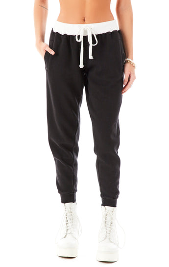 CONTRAST WAISTBAND SWEATPANTS