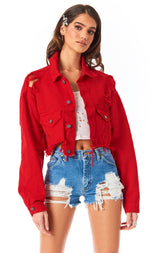 AUDREY CROP DENIM JACKET