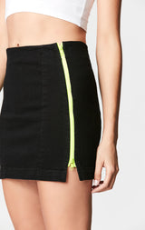 NEON MARGERY DOUBLE SIDE ZIP SKIRT