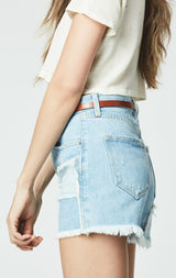 BARTON DENIM PATCHED MARIE SHORT