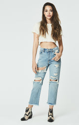 Carmar Denim: OME PORTIA SHREDDED JEAN - JEANS