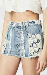Carmar Denim: MERSEY TITANIA CROCHET PATCH SHORT - SHORTS