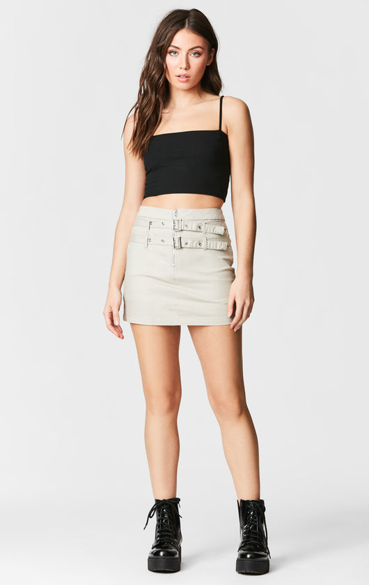 DOUBLE BELTED SKIRT