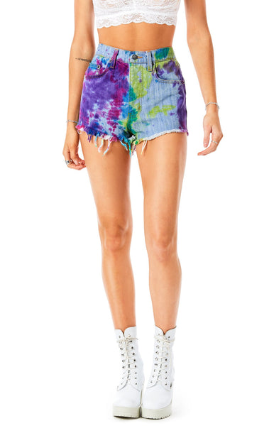 TITANIA SPLOTCH TIE DYE DENIM SHORT