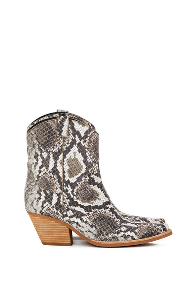 JEFFREY CAMPBELL SNAKE SKIN WESTERN BOOTS