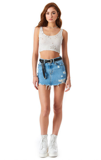 COLIN ZADIE DENIM SKIRT