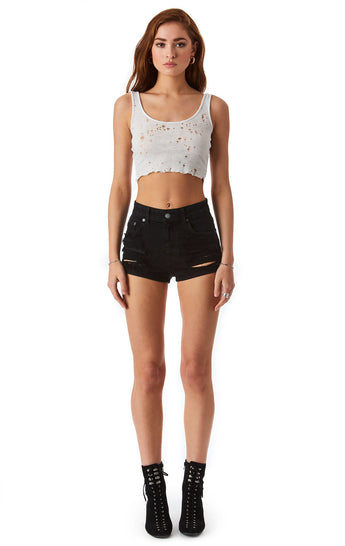 CARNELIAN JET DENIM SHORT