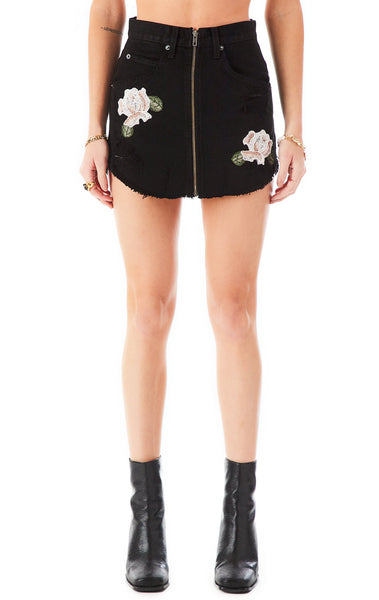BEATRICE ROSE EMBROIDERED DENIM SKIRT?id=27948843892759