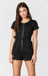 Carmar Denim: CONTRAST BELT SHORTALL - OVERALL