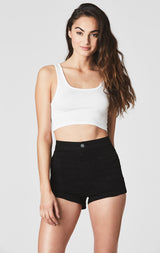 Carmar Denim: LENA HIGH RISE FRONT PATCH POCKET SHORT - SHORTS