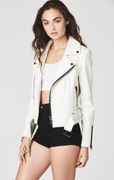 Carmar Denim: LEATHER MOTO JACKET WITH BELT - LEATHER JACKETS