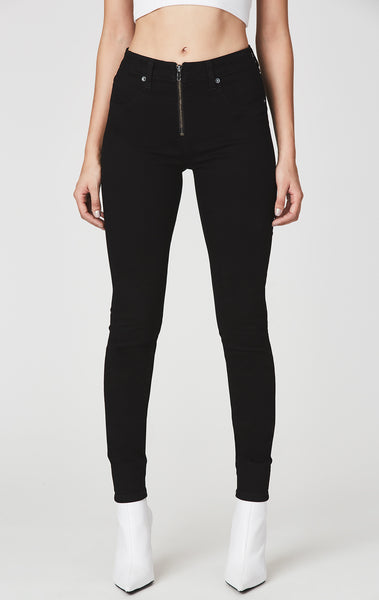 Carmar Denim: JUPITER HIGH RISE SKINNY JEAN WITH HALF FRONT ZIP - JEANS