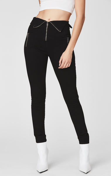 VIOLA HIGH RISE SKINNY JEAN WITH FOLD OVER MULTI ZIP