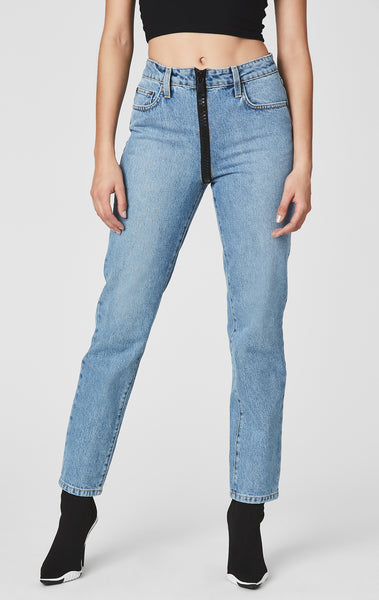 SAVANNAH EMELIA FULL FRONT ZIP JEAN