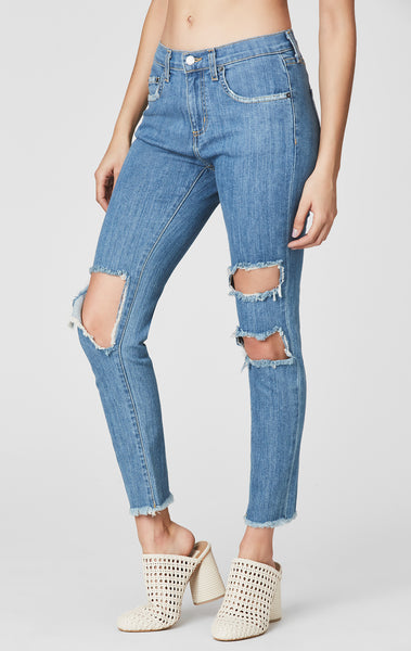 ASPEN MIA KNEE CUTOUT CROP JEAN
