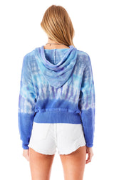 TIE DYE HOODED SWEATER