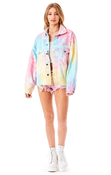 AUDREY SPLASH TIE DYE DENIM JACKET