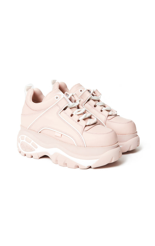 Carmar Denim: BUFFALO LONDON CLASSIC BABY PINK PLATFORM SNEAKER - SHOES