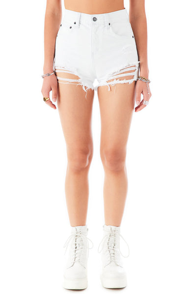 ALICE SPHENE DENIM SHORTS