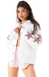 AUDREY PINK RHINESTONE STAR PATCH DENIM JACKET?id=27959355441175