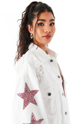 AUDREY PINK RHINESTONE STAR PATCH DENIM JACKET 7?id=27959355539479