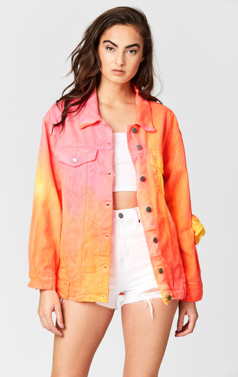 TIE DYE OVERSIZED DENIM JACKET