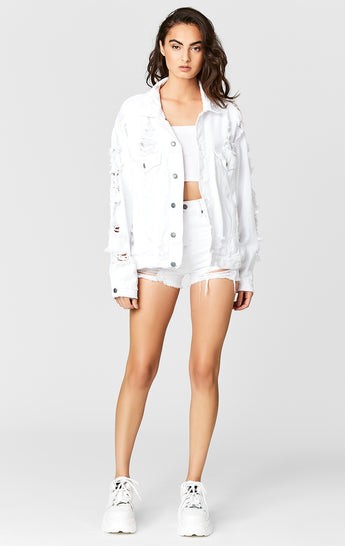 WHITE AUDREY DENIM JACKET