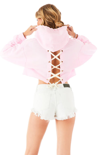 LACE UP BACK HOODIE PINK?id=27965423550487