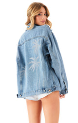 AUDREY MORADO RHINESTONE PALM TREE DENIM JACKET?id=27965478371351