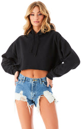 LACE UP BACK HOODIE BLACK 2?id=27965209772055