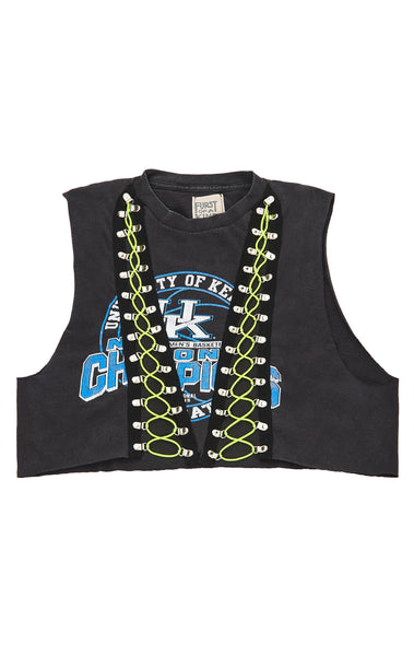 BUNGEE LACE UP SLEEVELESS TEE