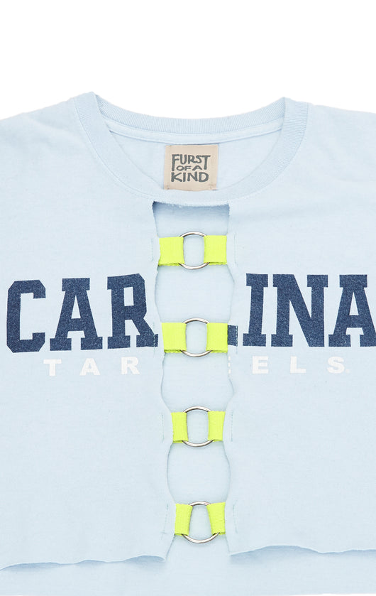 Carmar Denim: CROP COLLEGE TEE - VINTAGE TEE